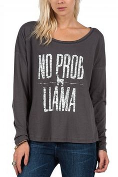 Start the Sundaze dance craze with this stylish Volcom tank, featuring custom prints that vary with colorway. Llama Shirt, T Shirt, Llama Face, Llama Gifts, Best Mom, What To Wear, Graphic Sweatshirt, Sweatshirts, Tees
