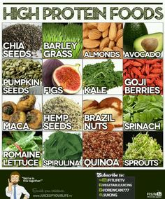 Vegetarian forms of protein. Along with any type of beans or nuts.