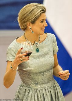 The 44-year-old Dutch royal joined husband King Willem Alexander at a state banquet in Beijing, China, during the pair's five-day tour of the country even though she had been feeling under the weather
