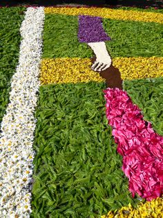 Fronleichnam Blumenteppich Detail