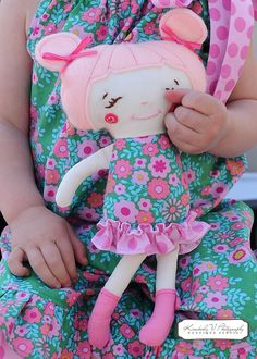 Handmade Doll...no longer available from etsy but I really like the idea.  Maybe I can find a similar one to make.