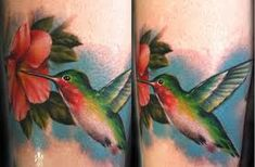 realistic hummingbird tattoos for women - Google Search