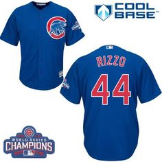 69e2a83c7 Youth Majestic Chicago Cubs Jon Lester Authentic Royal Blue Alternate 2016  World Series Champions Cool Base MLB Jersey