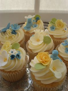 Cornflower Blue & Primrose Yellow by April Bakery, via Flickr