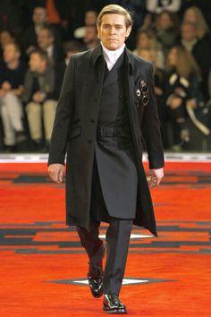 Willem Dafoe walking Prada A/W 2012