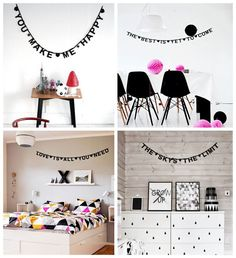 DIY Modern Word Letter Banner Black by TLLC   invent yourself a ...
