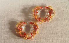 Wacky wavy beads on sterling silver ear wire