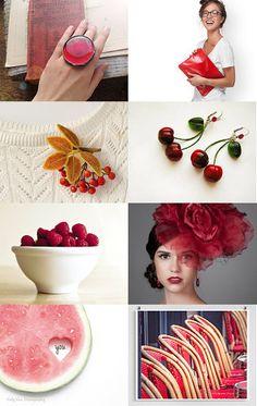 Red, summer, love ♥ by Vasilinka on Etsy--Pinned with TreasuryPin.com
