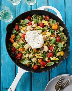 "Presenting seven end-of-summer dinners that say, ""It's not 'goodbye,' it's 'see you later.'"" (Grocery list included.) #cook #dinner #recipes Fresh Corn Recipes, Summer Recipes, Easy Dinner Recipes, Dinner Ideas, Healthy Recipes, Healthy Foods, Keto Recipes, Gnocchi Recipes, Pasta Recipes"