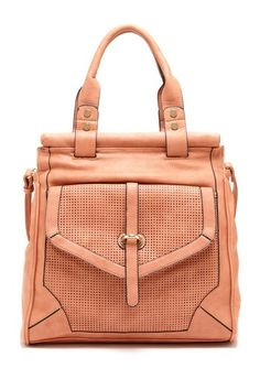 Blush Perforated Satchel