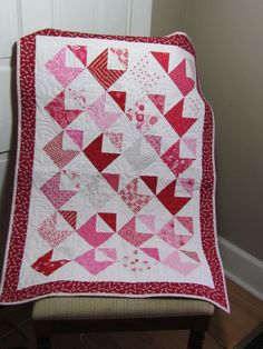 Letters of Love Quilted Valentine Table by WillowbendCottage, $40.00