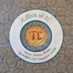 A Slice of PI label Pi A, Quilt Labels, Decorative Plates, Tableware, Dinnerware, Tablewares, Dishes, Place Settings
