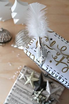 wrapping christmas gifts!