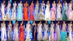 Las Candidatas en Traje de Gala la Noche del Miss Venezuela 2014..