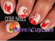 Simple Crab Nail Art