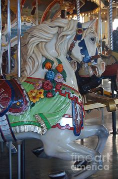 Carousel Horse Photograph - Carousel Horse by Suzanne Gaff Nocturne, Carosel Horse, Victorian Dollhouse, Modern Dollhouse, Wooden Horse, Painted Pony, Hobby Horse, Merry Go Round, Horse Art