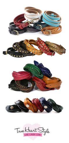 True Heart Style's Leather Wrap Bracelet Collection #genuineleather