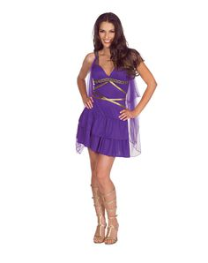 Aphrodite Purple Adult Womens Costume - Radiate love everywhere you go when you wear this Aphrodite Purple Adult Womens Costume. Your holiness will be instantly acknowledged in this purple r Spirit Halloween, Halloween Costumes, Autumn Cosy, Teacher Costumes, Halloween Accessories, Aphrodite, Costumes For Women, Playing Dress Up, Cosplay Costumes