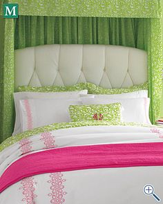 Lilly Pulitzer bloom percale. I really need to double down and spend some money on my bedding.