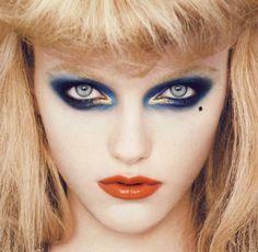 Vlada Roslyakova with makeup by Aaron de Mey