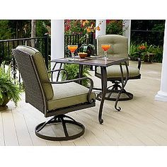 balcony - Peyton 3 Pc. Bistro Set- La-Z-Boy - $650 with ottoman