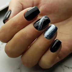 Идеи дизайна ногтей - фото,видео,уроки,маникюр! Black Nail Designs, Short Nail Designs, Beautiful Nail Designs, Nail Colors For Pale Skin, Fall Nail Colors, Luv Nails, Pretty Nails, Gel Nail Art, Nail Polish