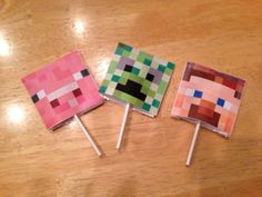 Homemade Minecraft Inspired Valentine's Day Cards by IShopAmyPotts, $10.00