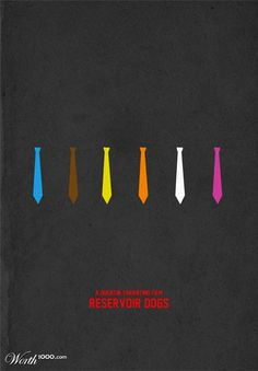 Reservoir Dogs Poster 10 Greatest Ever Minimalist Movie ads ads commercial ads commercial ads Old Movie Posters, Minimal Movie Posters, Minimal Poster, Movie Poster Art, Simple Poster, Reservoir Dogs Poster, Famous Hollywood Movies, Tarantino Films, Quentin Tarantino