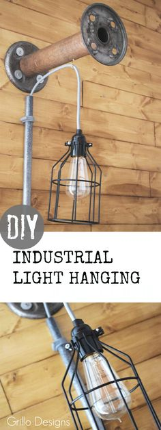 Create this industrial effect lightening in your room with a bobbin and PVC pipes. See full tutorial here!