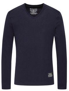 Base V-Neck Long Sleeve T-Shirt #hats, #watches, #belts, #fashion, #style
