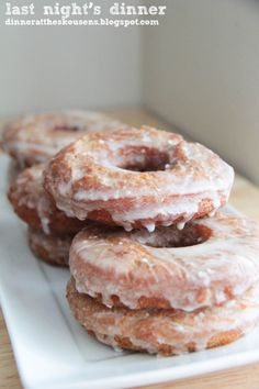 Apple cider donuts with browned butter icing