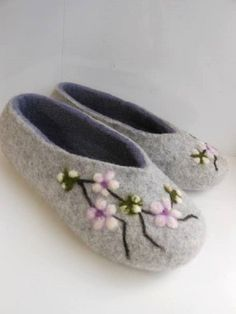 4888d42fece69f Felted slippers Women home shoes Felted wool slippers Organic