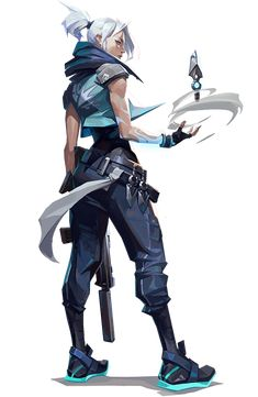 VALORANT: Riot Games' competitive 5v5 character-based tactical shooter Character Base, Game Character Design, Character Design Inspiration, Character Concept, Concept Art, 3d Model Character, Cyberpunk Anime, Arte Cyberpunk, Cyberpunk Games