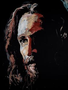 A painting of Jesus by Jared Emerson. I just saw him do this last night at Winter Jam during Newsongs' performance. It was pretty cool :) Images Of Christ, Pictures Of Jesus Christ, Catholic Art, Religious Art, Jesus Painting, Paintings Of Christ, Jesus Face, Prophetic Art, Biblical Art