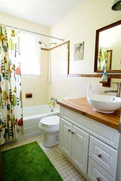 Vanity double sink butcher block countertops cade 39 s new - Butcher block countertops in bathroom ...