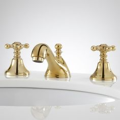 Picture Gallery For Website Kingston Brass Victorian in Widespread Handle High Arc Bathroom Faucet in Polished Brass Bathrooms Pinterest Kingston Faucet and Victorian