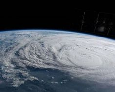 There was video of a hurricane from space