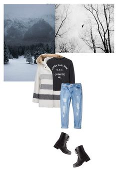 """""""Untitled #137"""" by rachelallegra ❤ liked on Polyvore featuring Woolrich, Topshop, MANGO and Charlotte Russe"""