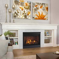 Customize your interior living space with the Quartz Direct Vent Gas Fireplace and enhance any traditional or contemporary home style. This … – Design woonkamers – fireplace Direct Vent Gas Fireplace, Vented Gas Fireplace, Home Fireplace, Fireplace Remodel, Living Room With Fireplace, Fireplace Design, My Living Room, Living Spaces, Brick Fireplace