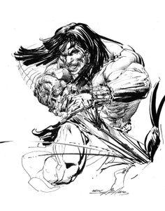 Neal Adams (1941) historietista estadounidense de trazo maestro. Destacó en Marvel Comics y en series de cómic como Conan el bárbaro.