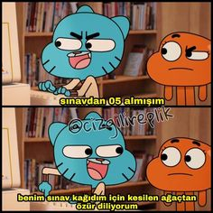 Gumball and Darwin Komik Sahneler Regular Show, Comedy Pictures, Funny Pictures, Ridiculous Pictures, Activities For 2 Year Olds, Funny Quotes, Funny Memes, Best Memes Ever, Meme Stickers