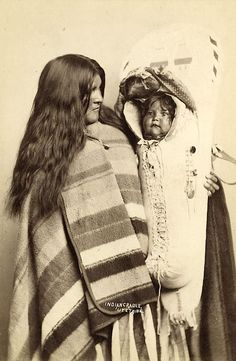 Ute Chief Wooly Head's wife and child. ca. 1888. Photo by C.R. Savage, Salt Lake City, Utah.