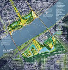 Finalist Designs revealed for Gateway Arch Competition  City River Arch 2015 #plan #render #landscapearchitecture