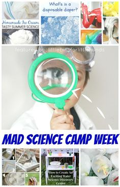 Planning a summer science camp is easy with our mad scientist science summer camp week planner. A full week of activities day by day that include science experiments and STEM activities, science themed snacks and games, plus resources for science books and kits. Awesome summer activities for kids whether you need to plan a whole week of summer science or just want to add science activities to your summer vacation. Science activities suitable for preschool, kindergarten, and early elementary…