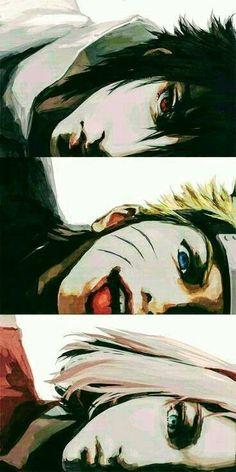 Montagem de Sasuke Sakura e Naruto