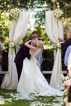 Simple & elegant wedding arch.