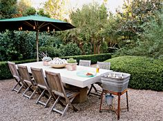 Terrace flooring - spread a three-eighths-inch layer of pea gravel on terrace floor for easy walking.