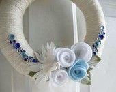 wedding bird wreath by AnnaHailey on Etsy