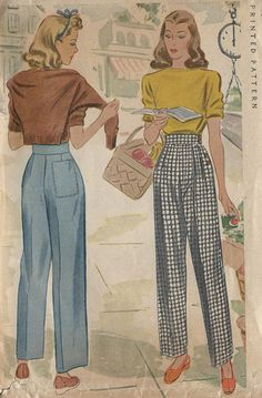 1943 Vintage Sewing Pattern W28
