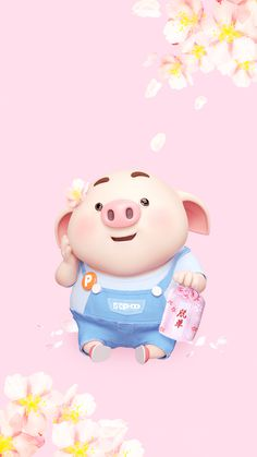Pig Wallpaper, Cute Girl Wallpaper, Funny Phone Wallpaper, Disney Wallpaper, This Little Piggy, Little Pigs, Boxing Day, Cute Piglets, Happy Pig